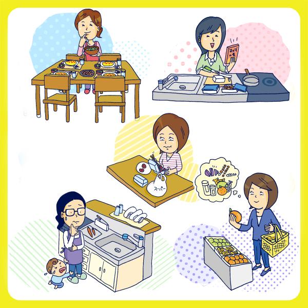 食事の支度、料理の意識から見えてきたママたちの多様性 ~5つのママクラスター~